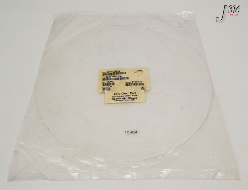 15383 Applied Materials Window,quartz,atm Chmbr Lamp Housing (new) 0200-35222