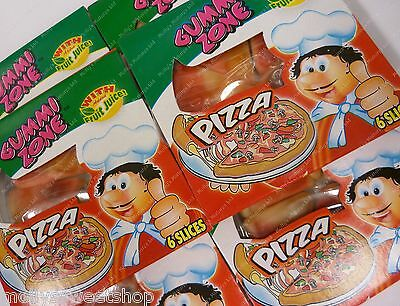 Gummy Pizza Slices, Party Bag Fillers Sweets, Novelty, Select 2,16,12,24 - Gummy Pizza