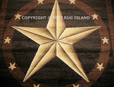 Texas Star Western Brown Black Area Rug **FREE SHIPPING**