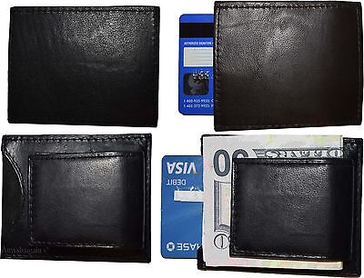 Lot of 4 New Lambskin Leather money Clip, Magnetic money clip. leather case BNWT ()