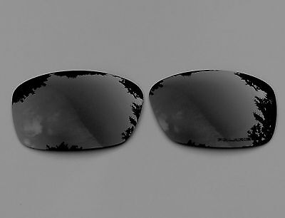 NEW ENGRAVED POLARIZED BLACK MIRRORED REPLACEMENT OAKLEY HIJINX LENSES