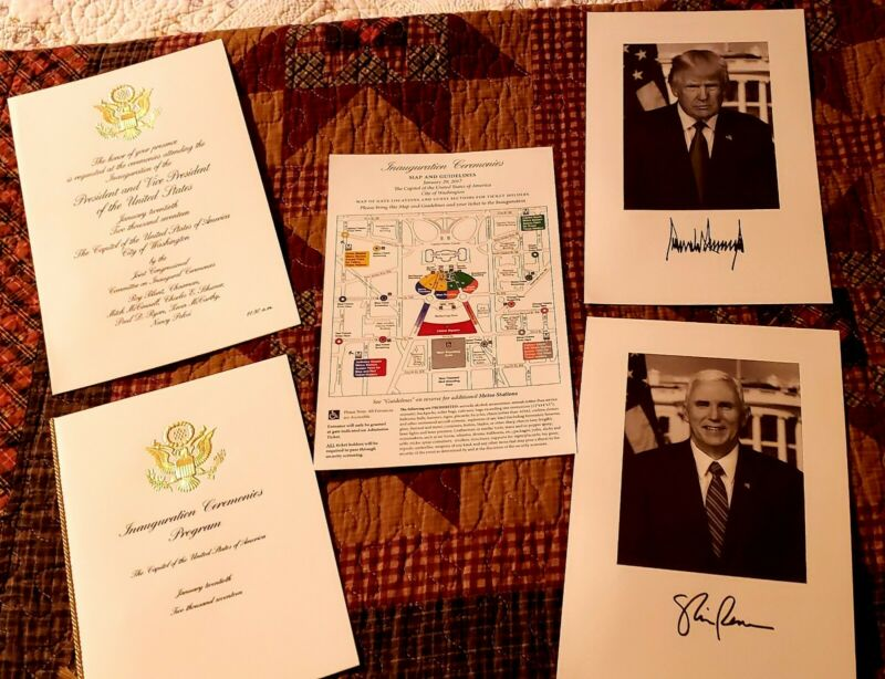 Official President Trump 2017 Inauguration Invite & Program, and Pictures.