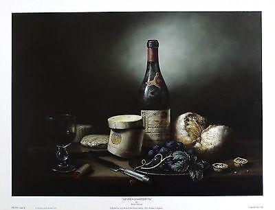 "BRIAN DAVIES ""Gevrey-Chambertin"" VINTAGE wine cheese! SIZE:30cm x 41cm  RARE"