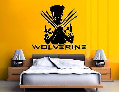 X MEN WOLVERINE MARVEL COMICS Wall Art Stickers BEDROOM Decals Home decor Deco ()