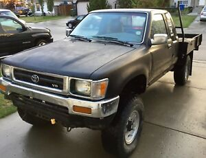 1992 Toyota pickup truck 3vze flat deck w/ pts 4 engine swap