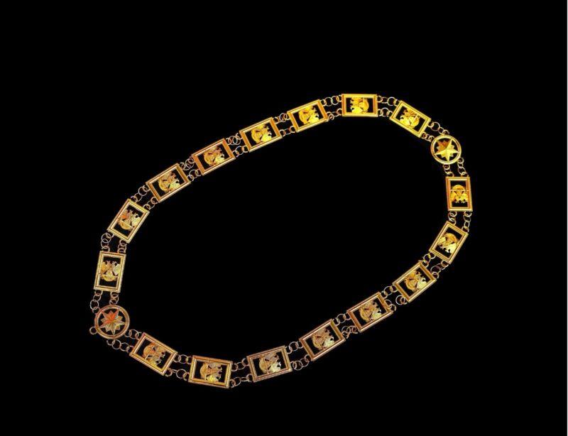 32nd Degree Wings Down Masonic Chain Collar Scottish Rite Consistory Jewel Regal
