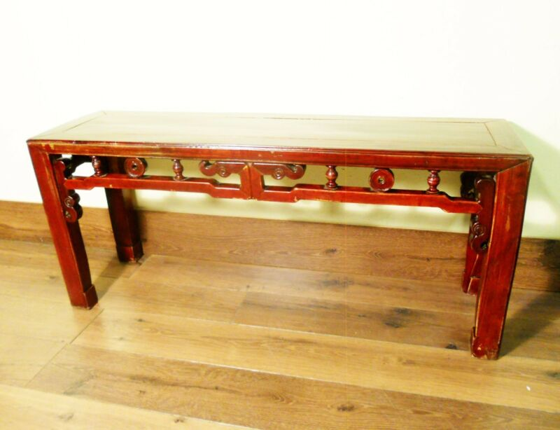 Antique Chinese Ming Spring Bench (5787), Zelkova Wood, Circa 1800-1849
