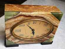 Antique DEP Rouge Marble/Onyx French Art Deco Mantel Clock Balcatta Stirling Area Preview