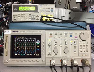 Tektronix Tds754c Oscilloscope 500mhz 2gss 13 1f Hd 2m 2f 2c