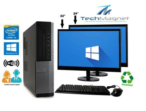 "Dell Desktop Computer 16gb 2tb Hd 512gb Ssd Quad Core I5 Windows 10 Pc 22"" Lcd"