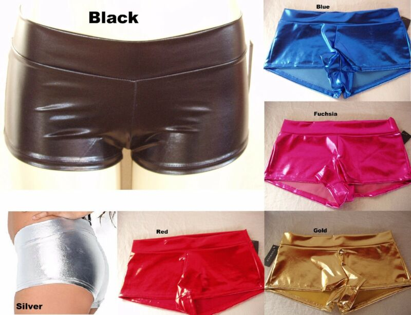 Metallic Rave Booty Dance Shorts Pants Boyshort underwear size S M L #998