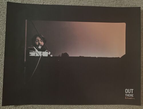 """PAUL McCARTNEY """"Out There""""  Limited 18"""" x 24"""" Poster from 2014 Tour! RARE!"""