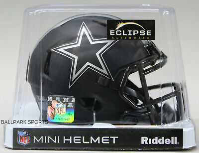 DALLAS COWBOYS - Black Eclipse Riddell Speed Mini Helmet