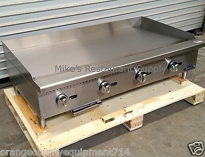 New 48 Griddle Gas Atosa Atmg-48 2551 Commercial Restaurant Plancha Flat Top