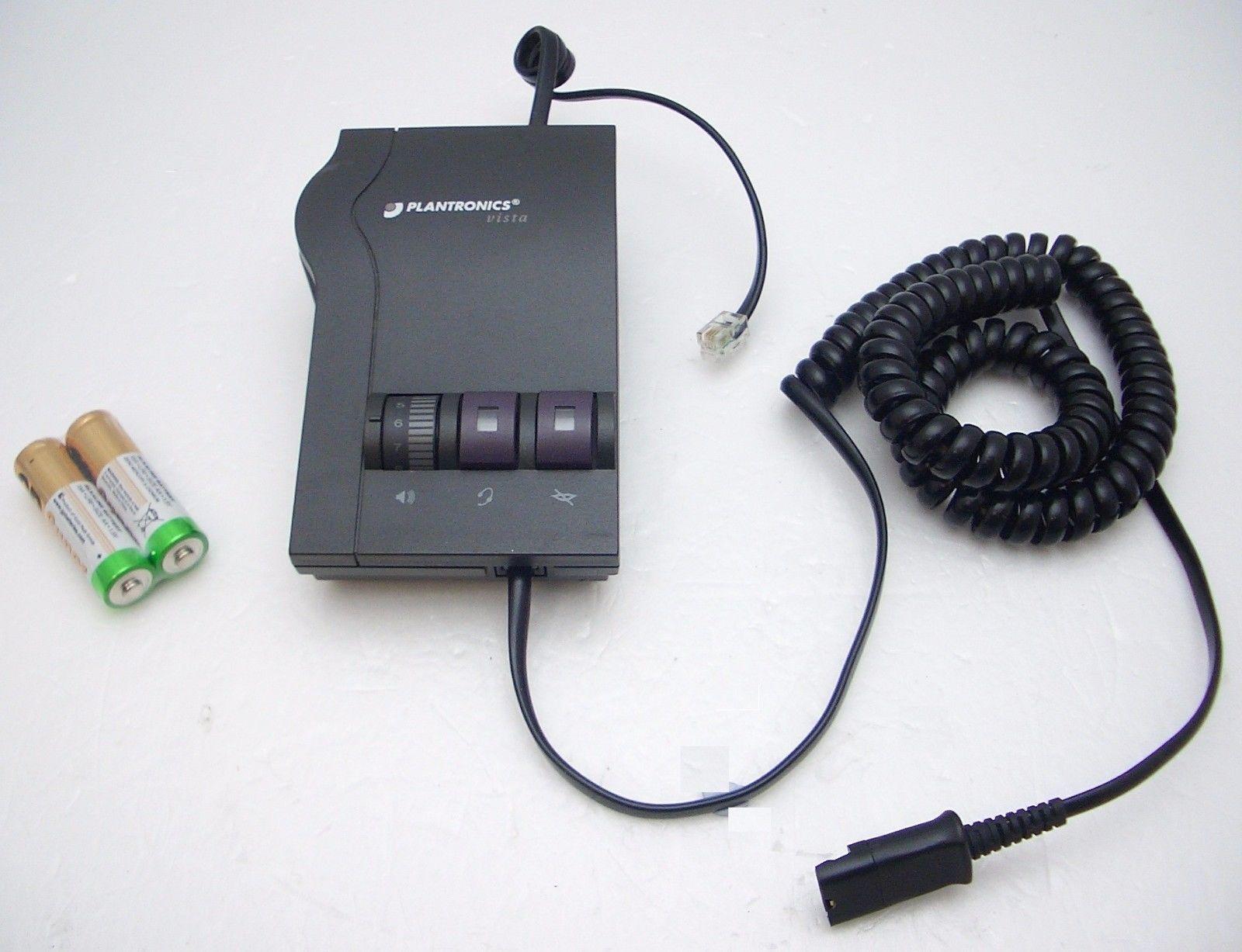 Plantronics Vista M12 Multi Purpose Adapter for HW510 HW520 HW710 HW720 Headsets