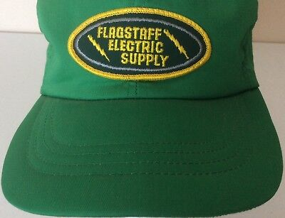 VTG Flagstaff Arizona Electric Supply Green Foam Cloth Trucker SnapBack Hat