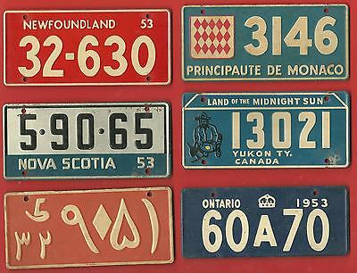 29  LOT  TOTAL  OF  WHEATIES  1953  PREMIUM  MINIATURE  BIKE  LICENSE  PLATES !!