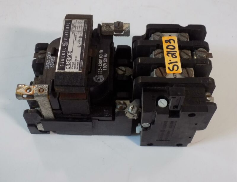 GENERAL ELECTRIC SIZE 1 27AMP MOTOR STARTER CR306C0 SERIES A