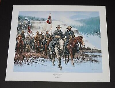 John Paul Strain - Return To Clarks Mountain - Collectible Civil War (Art To Frames Returns)