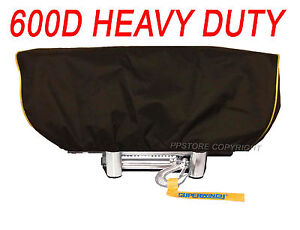 Waterproof Winch Dust Cover Driver Recovery 8500 - 17500 lbs capacity Yellow Str