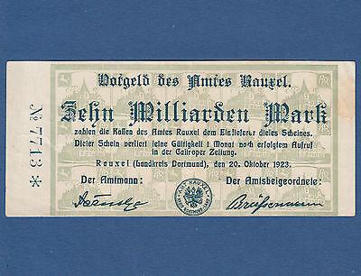 RAUXEL 10 Milliarden Mark 1923  III / VF