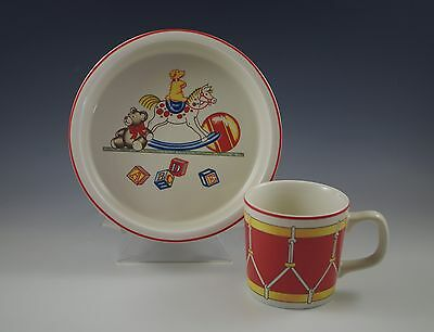 Toys And Co (1992 TIFFANY AND CO, TIFFANY TOYS CHILD'S BOWL AND CHILD'S MUG - CHILD'S)