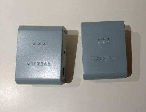 Two (2) NETGEAR POWERLINE AV ETHERNET ADAPTER XAV101