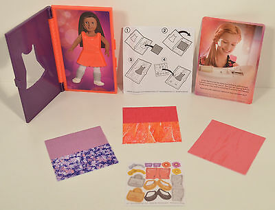 """2014 Isabelle Fabric Inspiration Book 4"""" Toy #2 McDonald's American Girl Doll"""