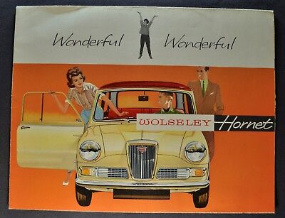 1962-1963 Wolseley Hornet Sales Brochure Folder Excellent Original