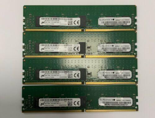 Genuine Supermicro Server Memory Micron 8GB ECC DDR4 2400MHz MTA9ASF1G72PZ RDIMM