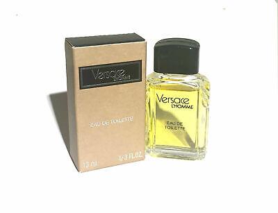 Versace L'Homme for Men Versace Eau de Toilette Mini Splash 0.33 oz - New in Box