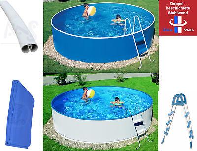 Stahlwandpool 3,60m x 0,90m Schwimmbad Rundpool Leiter Poolfolie Swimmingpool