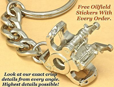 Oilfield Elevator Oil Drill Rig Bit Keychain Drillbit Pendant Roughneck Sticker