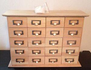 Petit meuble de rangement a tiroirs pour feves ebay for Petit meuble de rangement tiroir