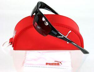 Puma Sunglasses PU14705A Black Sport Wrap Semi-rimless Polarized GreyLens UNISEX