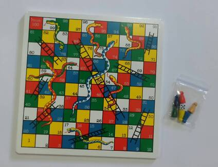 NEW Fun Factory - Wooden Snakes and Ladder Board Game
