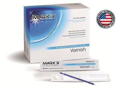 Mark3 Varnish 5 Sodium Fluoride Unit-dose Package 2 X 5 Pcs Spearmint 7101