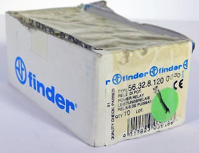 10 Each Finder 56.32.8.120 Power Relay 12a 250v Nos Nib