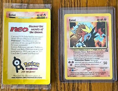 Pokemon ENTEI Holo Black Star Promo #34 NM/M Reverse Holo - SEALED