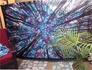 Twin Indian Tie Dye Locust Tree Wall Hanging Tapestry Bedspread Decorative Throw