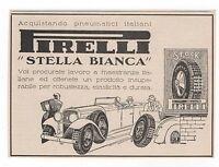 Pubblicità 1930 Pneumatici Auto Stella Bianca Pirelli Advert Werbung Publicitè - pirelli - ebay.it