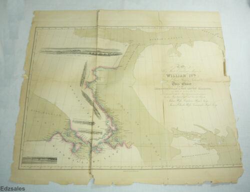 Antique 1834 Arctic Chart Discoveries by Explorer Captain Ross Royal Navy