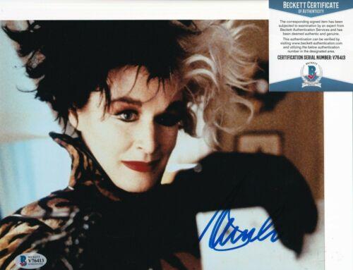 GLENN CLOSE signed (101 DALMATIONS) Cruella DeVil Movie 8X10 BECKETT BAS V76413