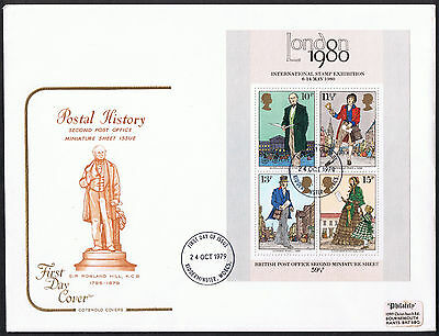 Sir Rowland Hill First Day Cover 1979 Miniature Sheet Stamp SG-MS1099
