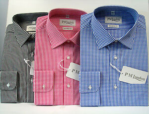 Uomo-Camicie-100-Cotone-Elegante-Lavoro-Fatto-su-misura-Uno-Pocket15-5-18