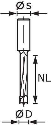 Festool Dübelbohrer HW Schaft 8 mm