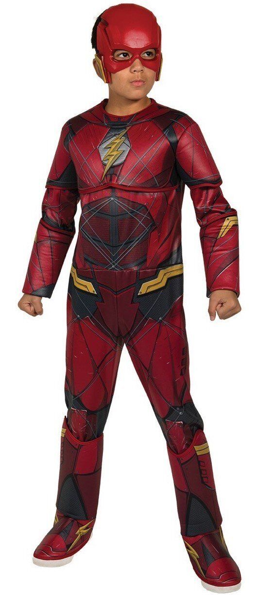 Rubies Dc Comics Flash Deluxe Muscle Chest Child Boys Halloween Costume 630977