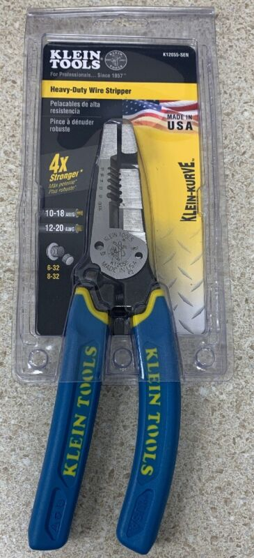 Klein Tools K12055-SEN Heavy-Duty Wire Stripper New