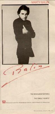 """1981 MARTY BALIN """"BALIN"""" ALBUM AD segunda mano  Embacar hacia Argentina"""