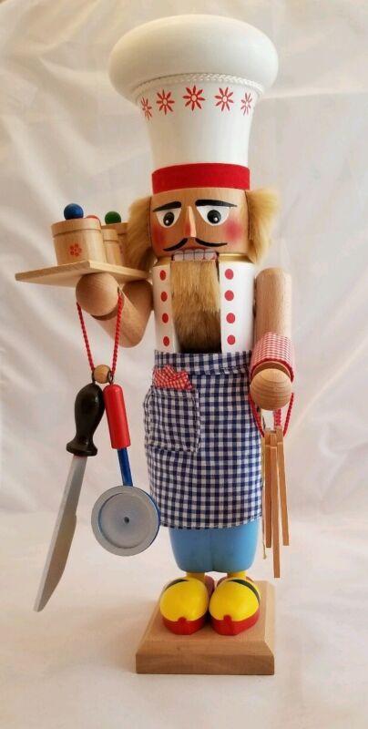 "Collectible Original STEINBACH Handmade Chefkoch Head Chef 17"" Nutcracker"